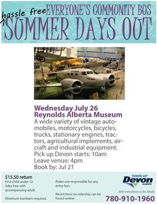Summer Days Out - Reynolds Alberta Museum