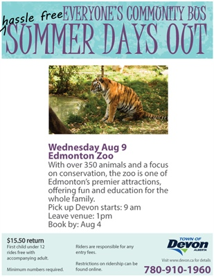 Summer Days Out - Edmonton Zoo