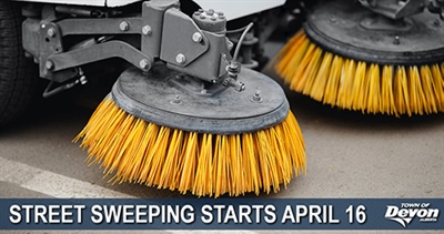 Street sweeping of arterial roads and intersections starts April 16