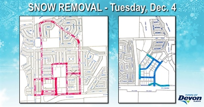 Snow clearing starts Dec. 4